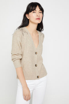 Cortefiel Soft collection cardigan Brown