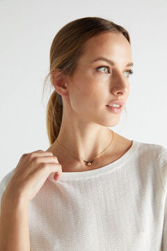 Cortefiel CIAM short necklace - Black - Gold Beige