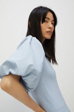 Cortefiel Camiseta manga abullonada Azul