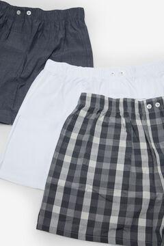 Cortefiel 3-pack woven boxers Dark gray