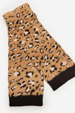 Cortefiel Bufanda punto mancha leopardo con lurex Beige