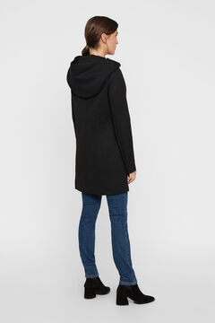 Cortefiel Hooded coat Black
