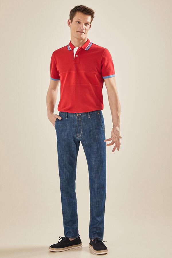 81e96a6331 Cortefiel Pantalón chino Azul