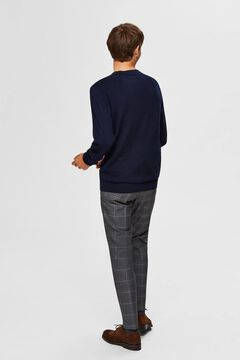 Cortefiel Classic organic cotton jumper  Navy