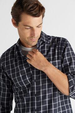 Cortefiel Camisa cuadros Gris