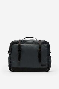 Cortefiel Nylon laptop bag Dark gray