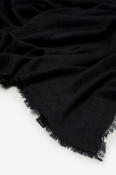 Cortefiel Basic warm single-colour foulard Black