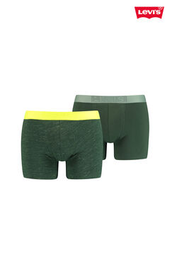 Cortefiel Pack de 2 boxers Levi's® de malha flamejada e fluorescente Amarelo