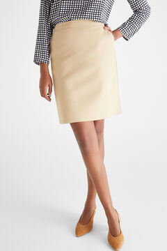 Cortefiel Short skirt with elasticated waist Brown