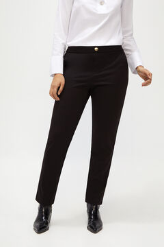 Cortefiel Ponte Roma trousers. Black