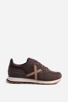 Cortefiel Zapatillas deportivas unisex Munich de color marrón con pieza en el talón Marrón