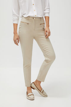 Cortefiel Skinny trousers Stone