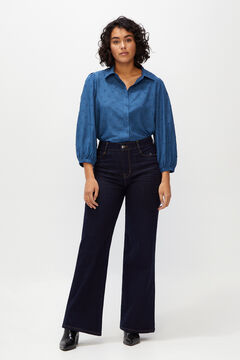 Cortefiel Denim palazzo trousers - sustainable wash Blue jeans