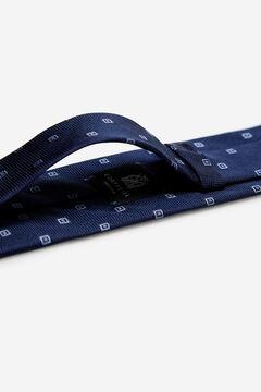 Cortefiel Checked jacquard tie Royal blue