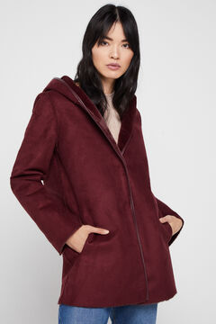 Cortefiel Reversible double-faced coat Red