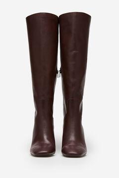 Cortefiel Burgundy nappa boot Fuchsia