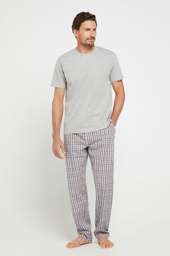 Cortefiel Long woven pyjamas Blue jeans