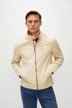 Cortefiel Jacket two pockets Ecru