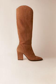 Cortefiel Leather ankle boot Stone