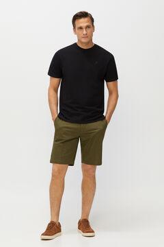 Cortefiel Short-sleeved T-shirt Black
