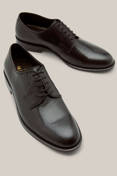Cortefiel Leather-soled dress shoe Black