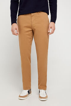 Cortefiel Regular fit winter weight chinos Mink