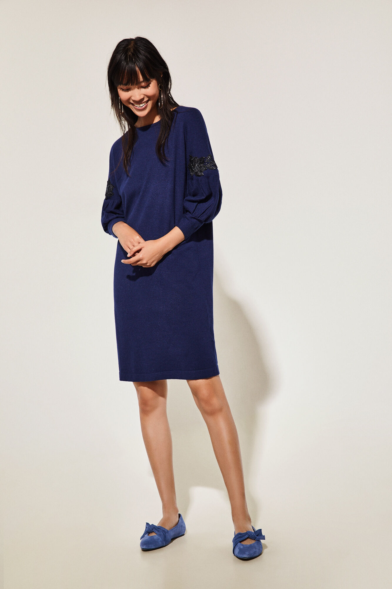 Vestido ibicenco azul