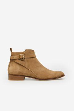 Cortefiel Split leather ankle boot with Brown