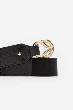 Cortefiel Belt with buckle Black