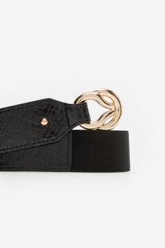 Cortefiel Cinturón con hebilla Negro