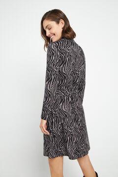 Cortefiel Soft feel mock turtleneck dress Tobaco