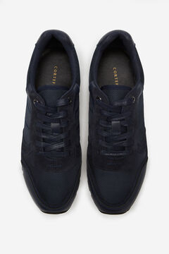 Cortefiel Rubber sole running sneaker Gray