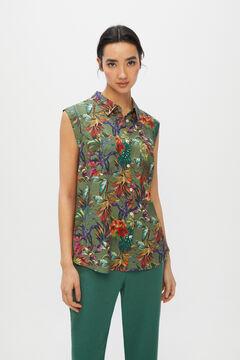 Cortefiel Safari shirt Green