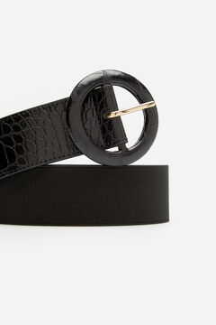 Cortefiel Wide stretch belt Black