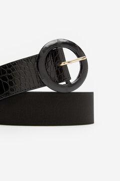 Cortefiel Cinturón ancho elástico Negro