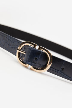 Cortefiel Essential animal belt Navy
