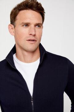 Cortefiel Zipped cardigan Navy