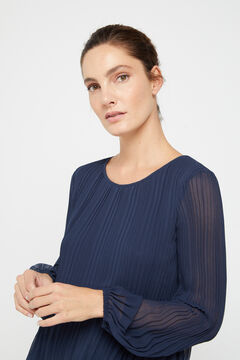 Cortefiel Pleated top Navy