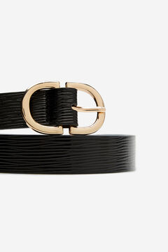 Cortefiel Essential animal belt Black