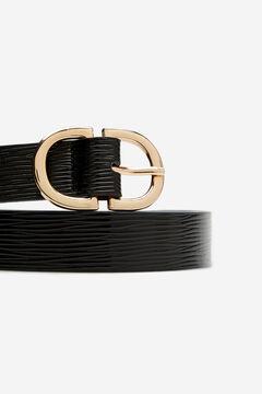 Cortefiel Cinturón básico animal Negro