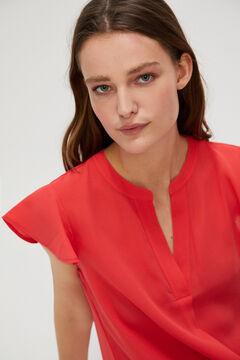 Cortefiel Printed floaty blouse Orange