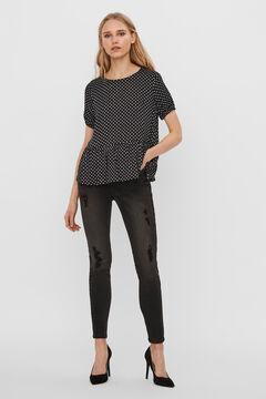 Cortefiel Flowing blouse Black