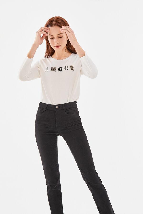 0b43ddb11 Cortefiel Jeans slim fit Negro