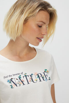 Cortefiel Floral printed t-shirt White