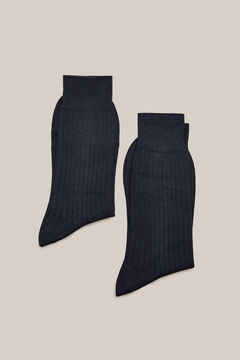 Cortefiel Cotton dress socks pack Navy