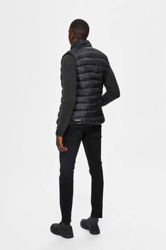 Cortefiel Recycled filling gilet Black