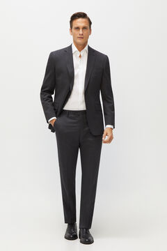 Cortefiel Tailored fit Coolmax® trousers Dark gray