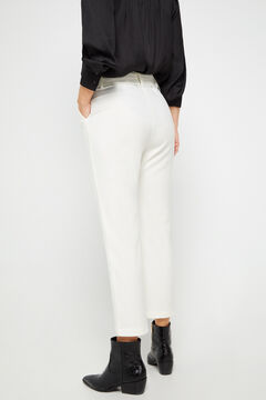 Cortefiel Trousers with belt White