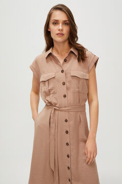 Cortefiel Short plain dress Camel