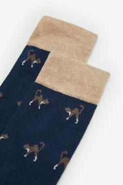 Cortefiel Animal print socks Navy